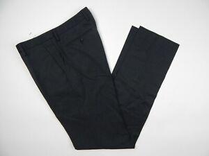 Bonobos Charcoal Grey 100% Wool Dress Pants Men's 34 Standard Fit New Unhemmed