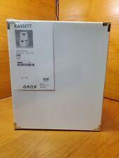 New IKEA KASSETT White Storage Box 2 pack. 13×15×11 3/4 METAL CORNERS