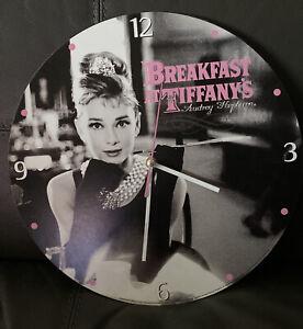 Audrey hepburn breakfast at Tiffany's wall clock