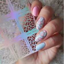 12Tips/Sheet Pattern Vinyls Easy Use Nail Art Manicure Stencil Sticker Stamping