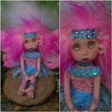 Fairy pixie elf polymer clay OOAK Fantasy Art Doll Hand made By Lori Schroeder