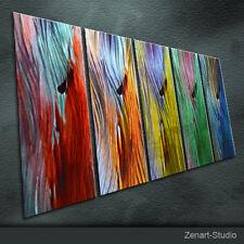 Shining Metal Wall Art Abstract Painting Sculpture Indoor Outdoor Decor-Zenart