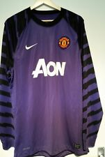 Nike Manchester United Player Issue Purple GK Goalkeeper shirt - Large