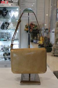 Louis Vuitton Vernis Thompson Street Patent Leather Yellow Shoulder Bag-MI0989