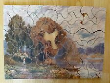 VINTAGE 1940s 50 Raphael Tuck & Sons Tucks Wooden Lockdown Picture Jigsaw Puzzle