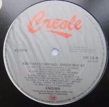 "ENIGMA - Ain't No Stopping - Disco Mix '81 - Ex Con 12"" Single Creole CR 12-9"