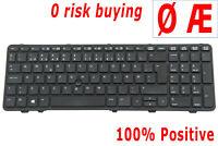 For HP Probook 650 G1 655 G1 Keyboard Norwegian Nordic Danish Tastatur Pointer