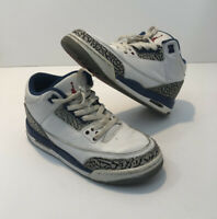 Nike Air Jordan 3 Retro OG-BG (854261-106) Youth Sz 6Y White Fire Red True Blue