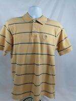 Men's Medium Yellow/ blue striped Izod Polo Shirt