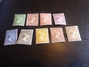 FALKLAND ISLANDS 1882-95 DEFINITIVES MH