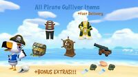 COMPLETE Gulliver Pirate Set: Animal Crossings New Horizons