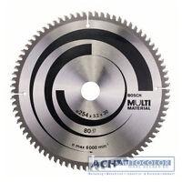 Bosch Aluminium Lame de Scie 254mm 80 Tr-F Pour Circulaire GTS 10 XC 0601B30400