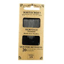 paquete de 6 surtidos Quilting//africanos Trébol agujas de oro negro