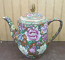 Hand Painted Thousand Flower Design Porcelain Teapot Jar Vase