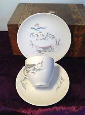 Vintage Royal Doulton Trio Venetian Scenes 1950's Cup Saucer Side Plate D6449