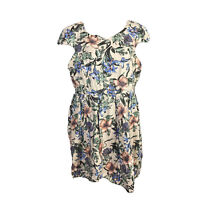Portmans Womens Size 16 Fit And Flare Midi Dress Round Neck Cap Sleeves