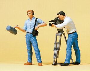Preiser 57104 Maßstab 1:24 Tontechniker, Kameramann, Fernsehkamera #NEU in OVP##