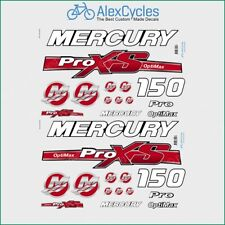Mercury 150 HP Optimax ProXS Outboadrs Motor Red Laminated Decals Boat