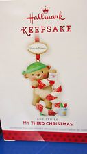 HALLMARK 2013 My Third Christmas Child's Age Series Stickers to date Ornament