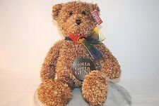 GUND Bearessence Teddy Bear Brown with Rainbow Bow 4890