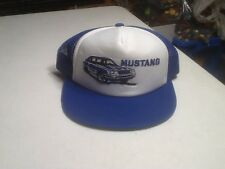 FORD MUSTANG VINTAGE Truckers Hat Blue New Cap