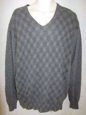 Nanibon Made in Italy Men's Gray V-neck Rayon Cashmere Sweater 58