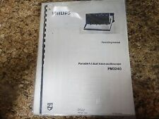 Philips Pm 3240 Operating Manual