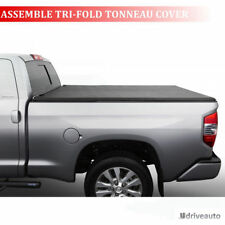 Assemble Lock Tri-Fold Soft Tonneau Cover For 04-06 Chevy Silverado 5.8ft Bed