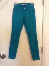 Excellent Teal Turquoise Old Navy Rockstar Skinny Jeans Pants Size 0 Stretch