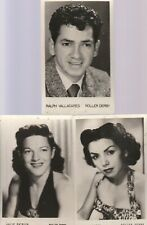 ROLLER DERBY STARS  POST CARDS-RALPH VALLADARES,JEAN PORTER,JULIE PATRICK