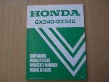 Werkstatthandbuch Shop manual de taller Honda GX 240 340 1985 manuel d`atelier