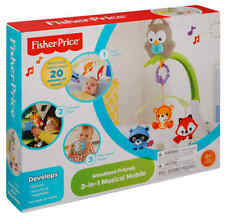 Fisher Price Baby Crib Musical Mobile Infant Cot New, For Comfort and Entertain