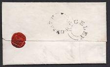 1838 Envoltura Staffordshire GRAN Haywood CDU & Rugeley sin fecha PMK a Lichfield