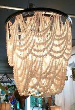 """Massive Catalina Wooden Sphere Double Cast Iron Hoop Chandelier 24""""D"""
