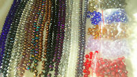 Joblot of 16 strings (1152 beads) 12mm Mixed colour Crystal beads new lot A 6