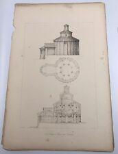 San Thomaso Liminie Rononda 1843 T. T. Bury Lithograph Architecture of Italy