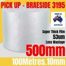 BUBBLE CUSHIONING WRAP 500mm x 100M   Clear 10mm Bubble Roll Bubble Wrap Roll