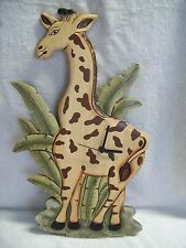 """Large 18"""" Tall Wooden Giraffe Wall Clock"""