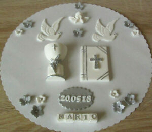 Kommunion Konfirmation Taufe Firmung Tortenaufleger Tortendeko Fondant Torte