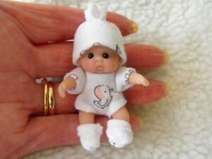 Handmade OOAK miniature dollshouse  polymer clay 1/12th Jointed baby doll by CAS