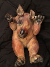 "Roberta Laidman Bronze Dog Sculpture 11""x7"" ""Angel """