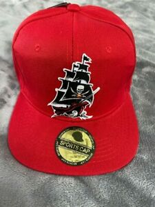 TAMPA BAY BUCCANEERS SHIP JERSEY LOGO SUPER BOWL RED SNAPBACK HAT CAP A34 NEW