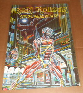 Iron Maiden Somewhere in Time Poster 2008 Original 24x36