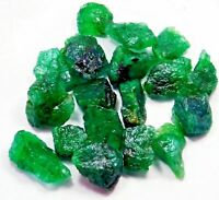 100 CT BEAUTIFUL RICH GREEN NATURAL COLOMBIAN EMERALD LOOSE ROUGH GEMSTONE