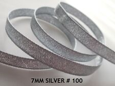 Berisfords 9165 20 M X 7 Mm Glitz and Glamour Metallic Lame Ribbon Silver