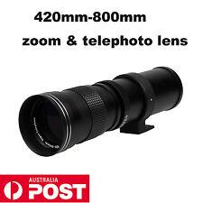 420-800mm telephoto zoom lens for Canon 1100D 550D 650D Nikon D3200 D90 f8.3-16