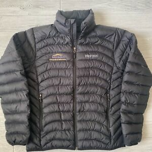 Marmot down fill 600 fill embroidery logo puffer quilted Jacket Mens Size small