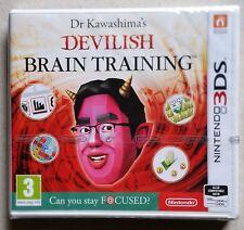 Dr Kawashima's diabólica entrenamiento cerebral Nintendo 3 ds juego NUEVO y SELLADO UK