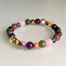 ADDICTION SUPPORT & WILLPOWER (smoking drinking eating) CRYSTAL HEALING BRACELET