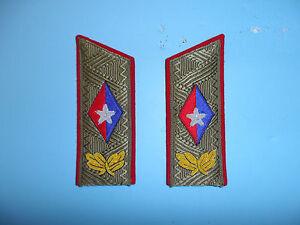 b5530 Cuba Cuban Fidel Castro Shoulder Boards for Service Uniform pair WC1